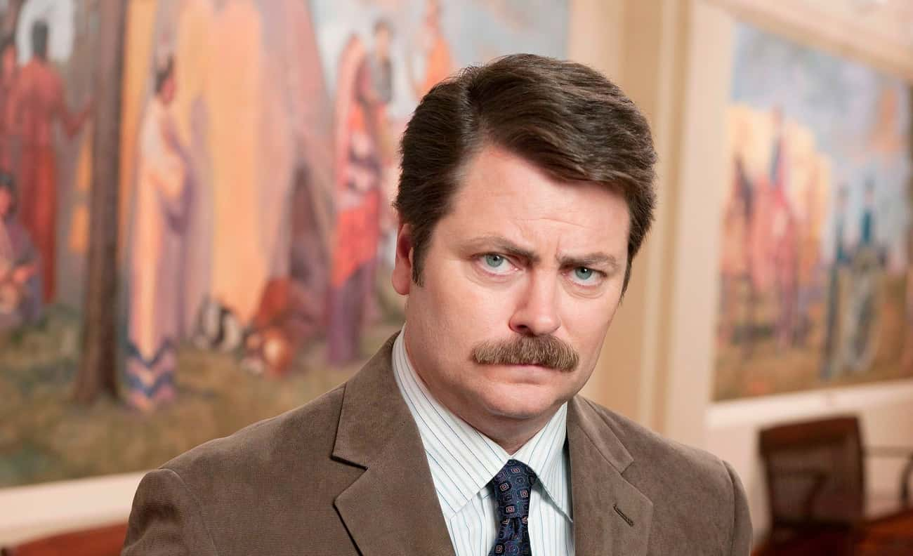Ron Swanson - Parks and Recrea is listed (or ranked) 4 on the list 20 Side Characters That Stole the Spotlight