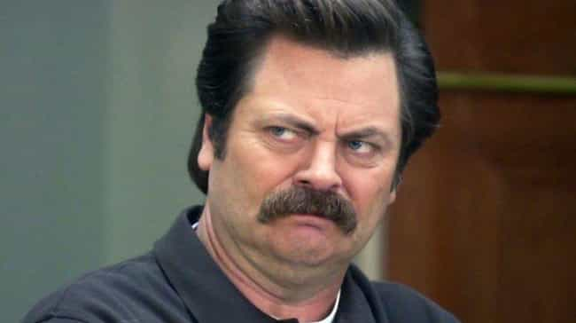 Ron Swanson is listed (or ranked) 2 on the list Which 'Parks And Rec' Character Are You, According To Your Zodiac Sign?