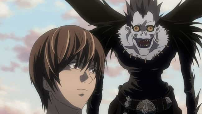 Ryuk is listed (or ranked) 4 on the list 20 Great Anime Characters Who Can Fly (Excluding DBZ)