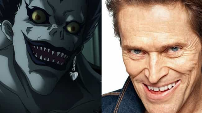 Ryuk is listed (or ranked) 4 on the list Live-Action American Versions Of Famous Anime Characters