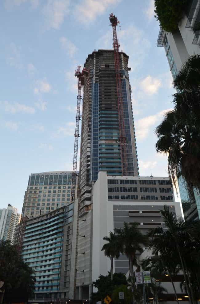 1101 Brickell is listed (or ranked) 2 on the list List of Famous Miami Buildings & Structures