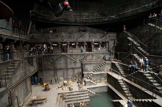 The Dark Knight Rises is listed (or ranked) 1 on the list Behind The Scenes Photos Of Huge Movie Sets Under Construction
