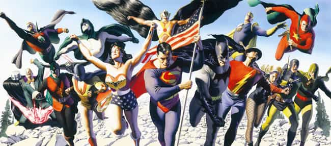 Justice is listed (or ranked) 1 on the list Alex Ross Comic Books