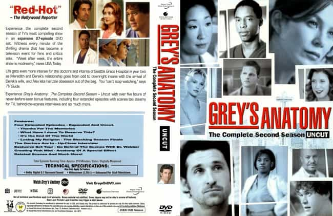 Grey's Anatomy Season 2 is listed (or ranked) 4 on the list The Best Seasons of Grey's Anatomy