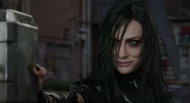 Hela is listed (or ranked) 6 on the list The Strongest Characters In The MCU, Ranked