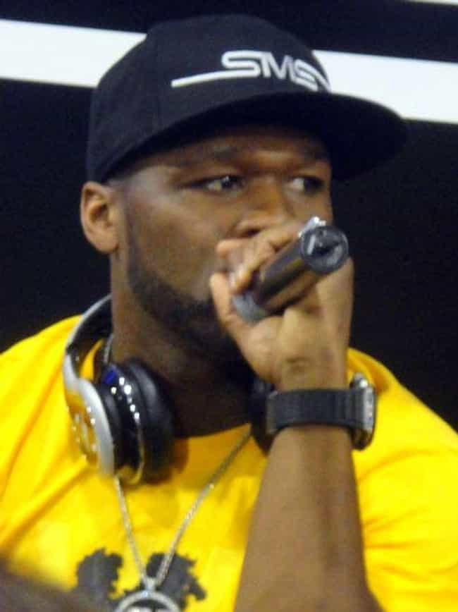 50 Cent is listed (or ranked) 4 on the list 27 Rappers Who Have Been Shot