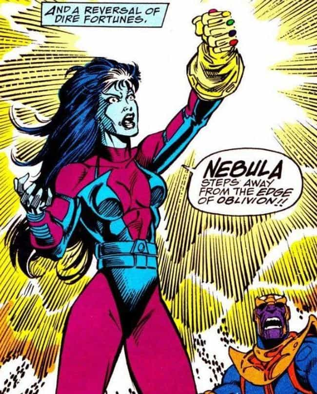 Nebula is listed (or ranked) 3 on the list How Marvel Characters Meet Their End In Infinity War (According to the Comics)