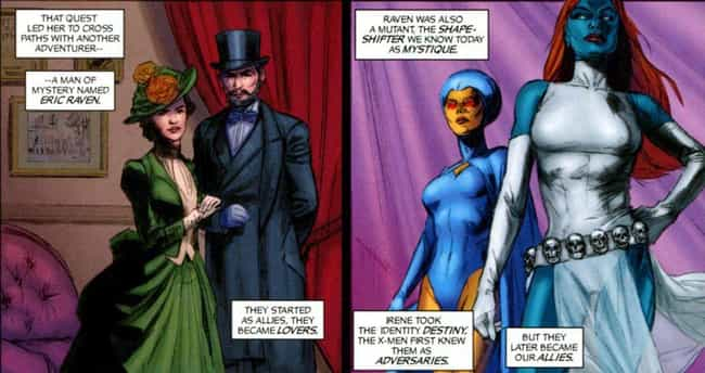 Destiny (Irene Adler) is listed (or ranked) 4 on the list Mystique's Long and (Shape) Shifting List of Lovers