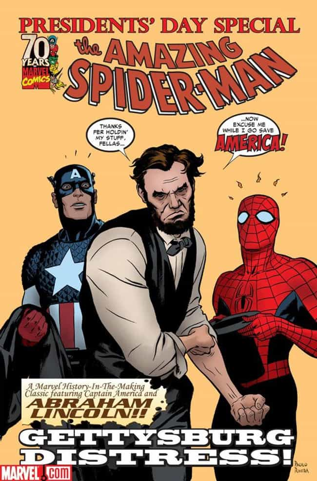 Abraham Lincoln is listed (or ranked) 4 on the list 29 Celebrities Who Have Shown Up In Comic Books