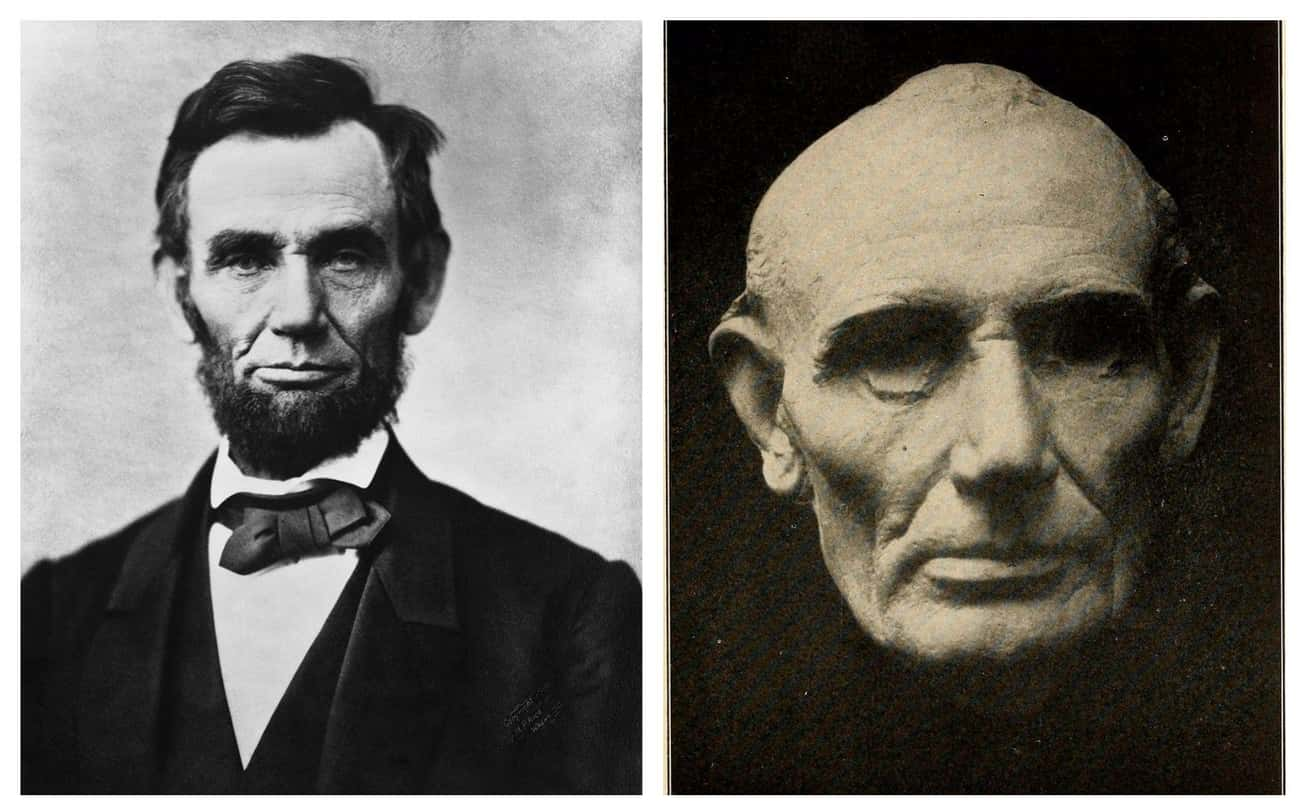 Abraham Lincoln - Died April 1 is listed (or ranked) 1 on the list 17 Plaster Face Molds Of Famous Historical Figures That Were Made Moments After They Died