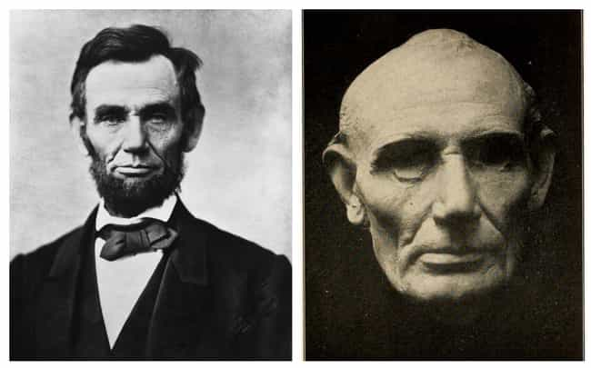 Abraham Lincoln is listed (or ranked) 1 on the list 17 Plaster Face Molds Of Famous Historical Figures That Were Made Moments After They Died