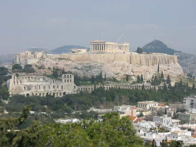 Acropolis of Athens is listed (or ranked) 4 on the list 30+ Famous Places Seen From a New Perspective