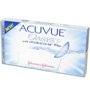 Acuvue is listed (or ranked) 3 on the list The Best Contact Lens Brands