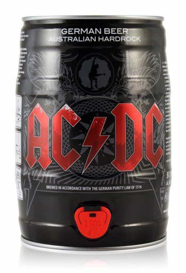 AC/DC is listed (or ranked) 4 on the list Rock Bands With The Coolest Custom Beers