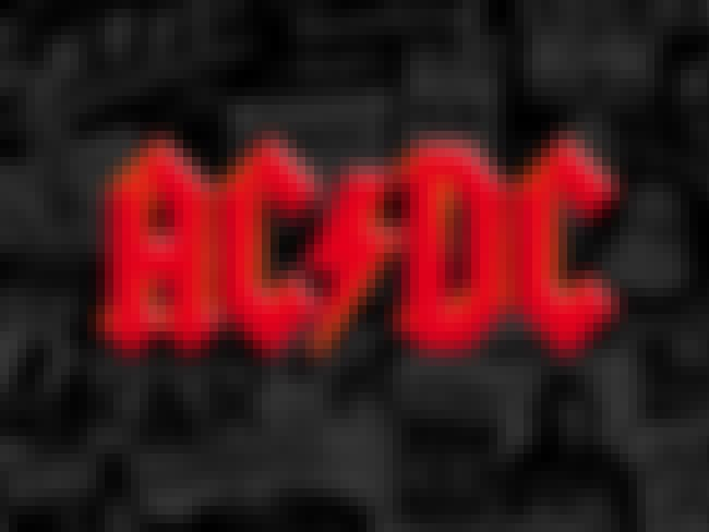 AC/DC is listed (or ranked) 4 on the list The Greatest Rock Band Logos of All Time