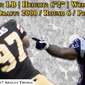 Adalius Thomas is listed (or ranked) 25 on the list The Best NFL Players From Alabama
