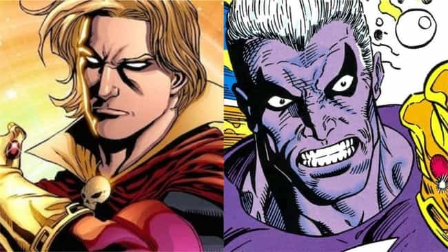 Adam Warlock is listed (or ranked) 4 on the list Superheroes With The Best Evil Doppelgangers