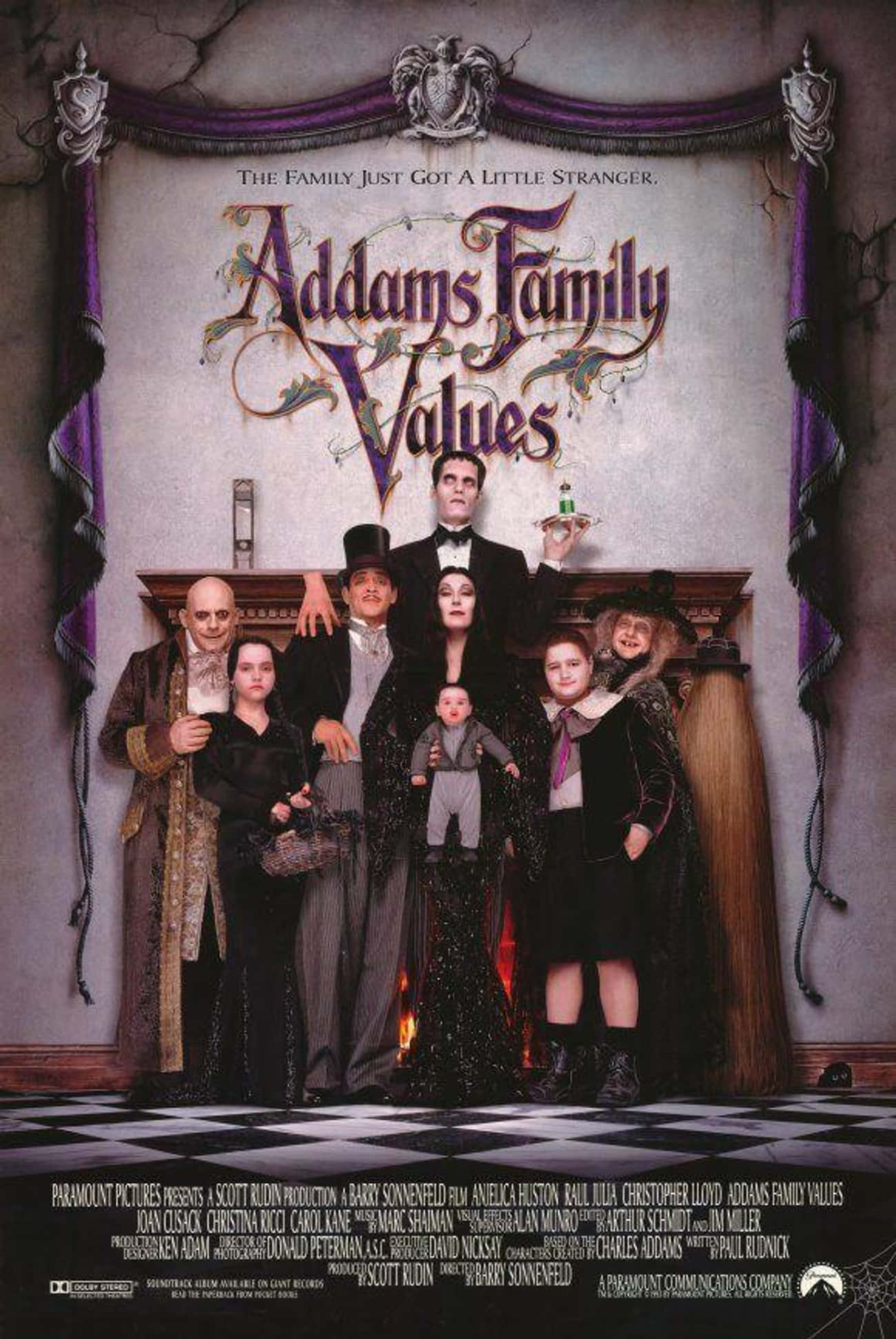 Addams Family Values is listed (or ranked) 1 on the list The Best Movies and Series in the Addams Family Franchise