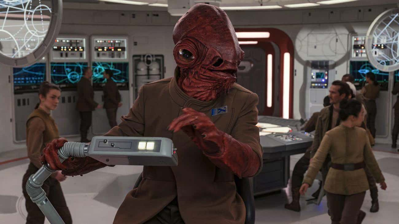 Admiral Ackbar is listed (or ranked) 4 on the list The 20 Most Unforgettable Last Words Of 'Star Wars' Characters