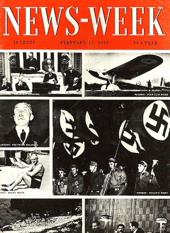 Adolf Hitler is listed (or ranked) 1 on the list The Best Newsweek Covers