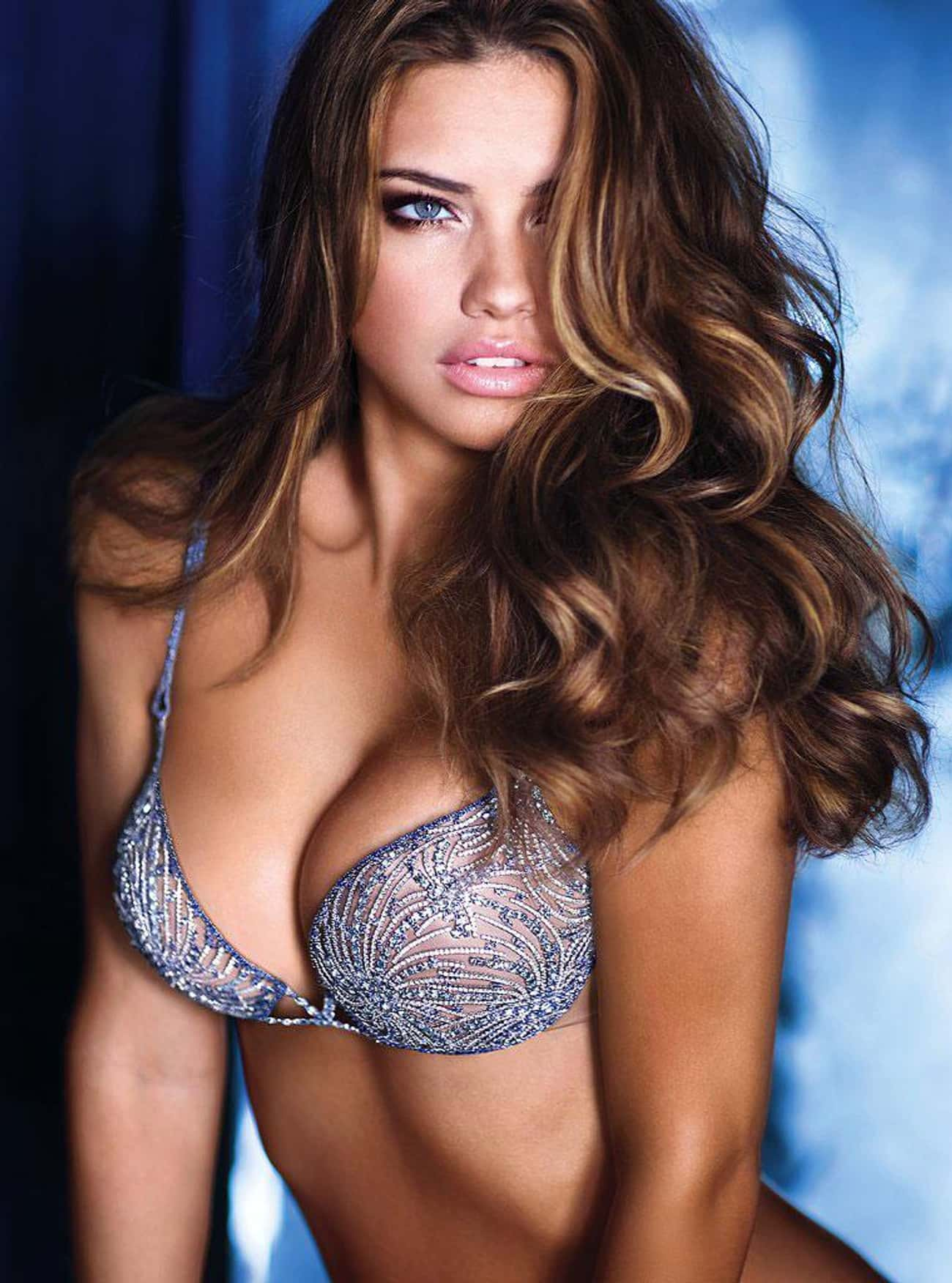 Adriana Lima is listed (or ranked) 2 on the list The Most Beautiful Celebrities Of Our Time