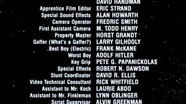 Airplane II: The Sequel ... is listed (or ranked) 2 on the list Genius Jokes Hidden In The Credits Of Your Favorite Movies