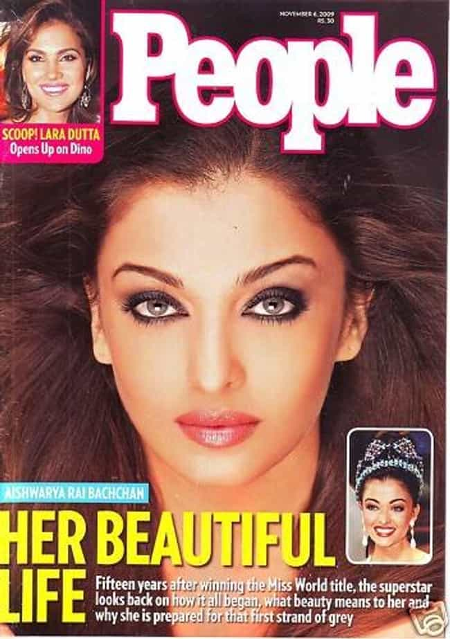 Aishwarya Rai Bachchan ... is listed (or ranked) 3 on the list The Best People Magazine Covers