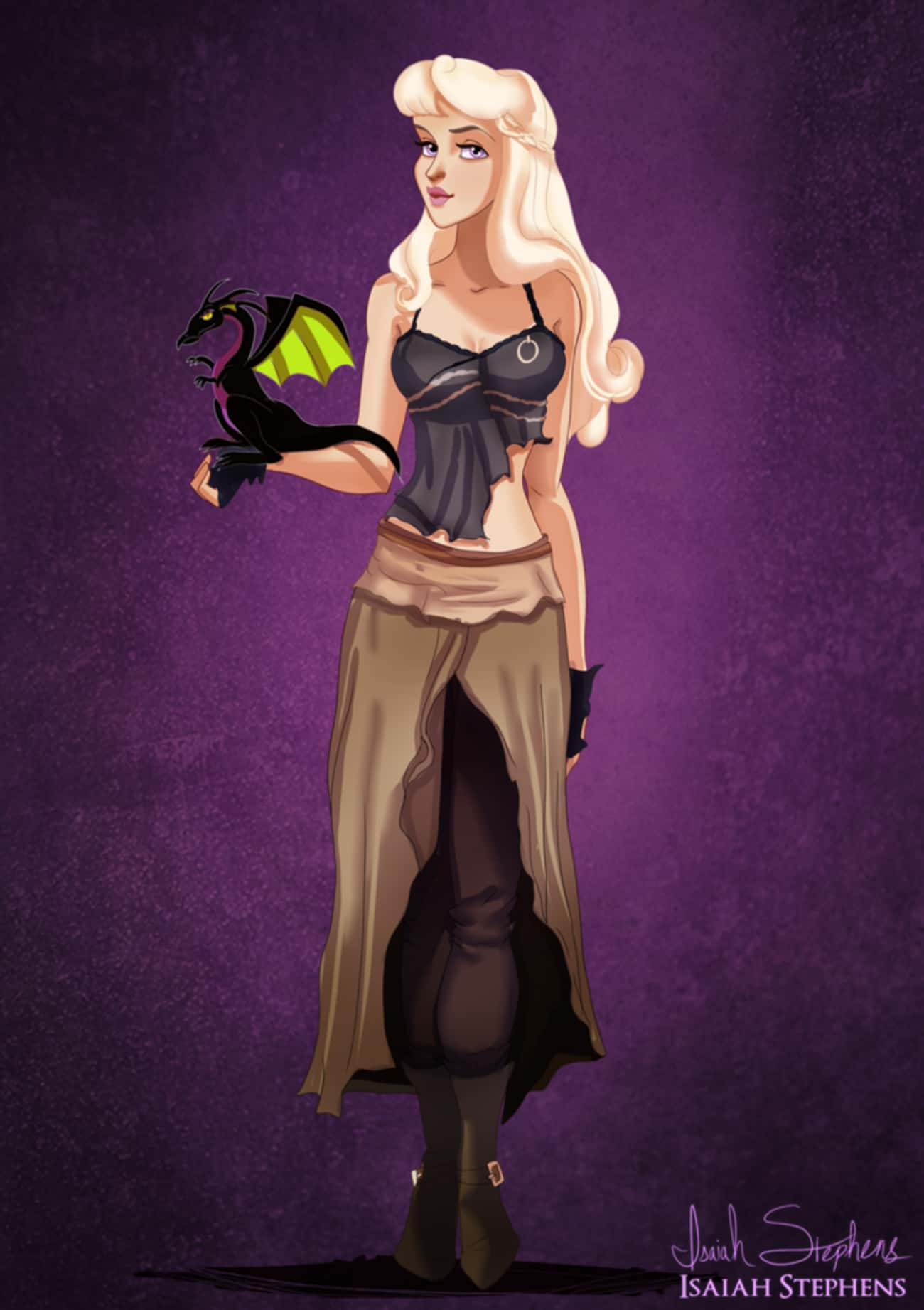 Halloween Means Princess Auror is listed (or ranked) 3 on the list This Artist Drew Your Favorite Disney Characters All Dressed Up For Halloween