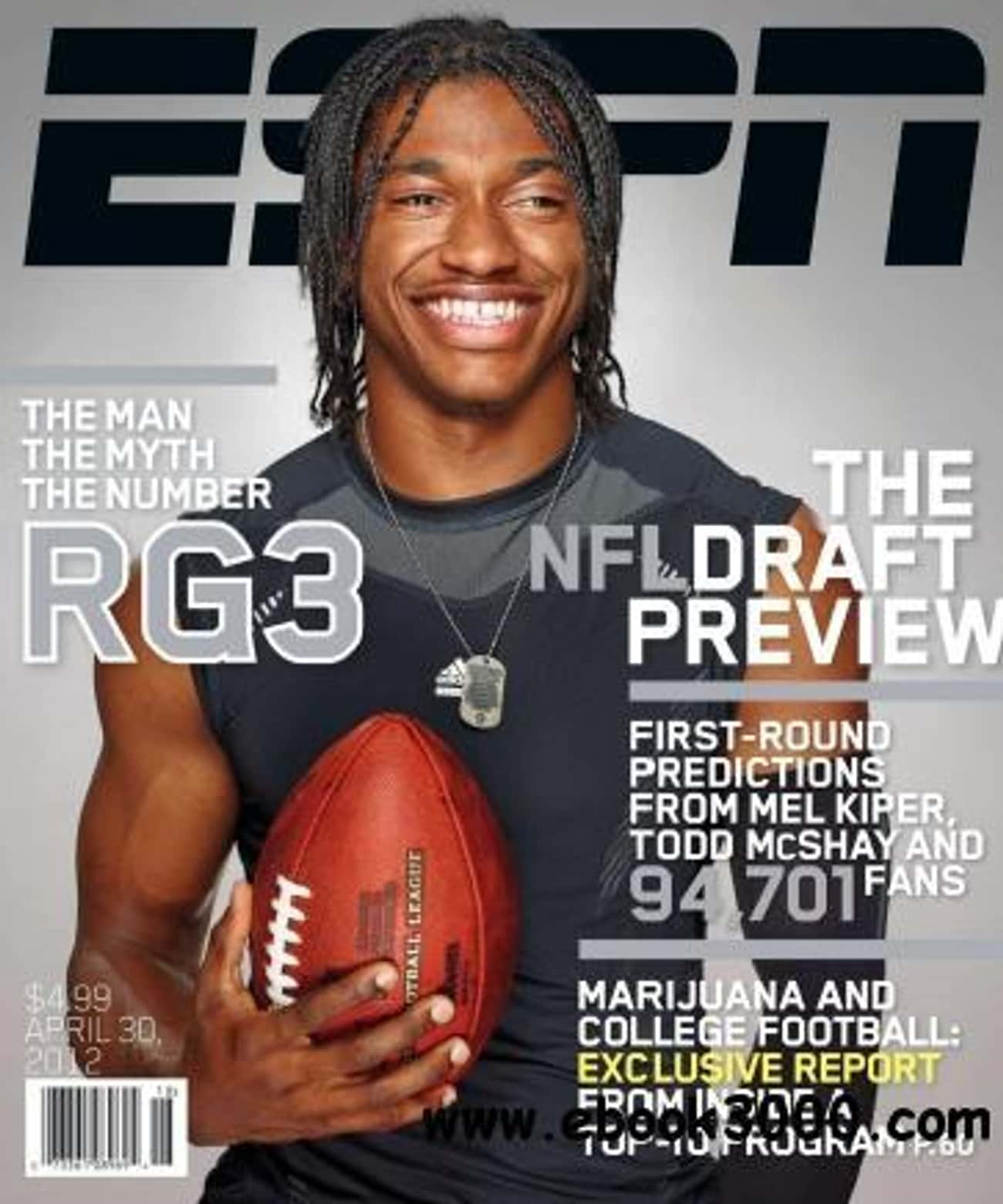 Robert Griffin III is listed (or ranked) 4 on the list The Best ESPN Magazine Covers