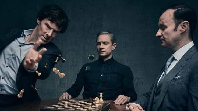 Sherlock is listed (or ranked) 8 on the list Popular Nerdy Franchises You're Too Embarrassed To Admit You Hate
