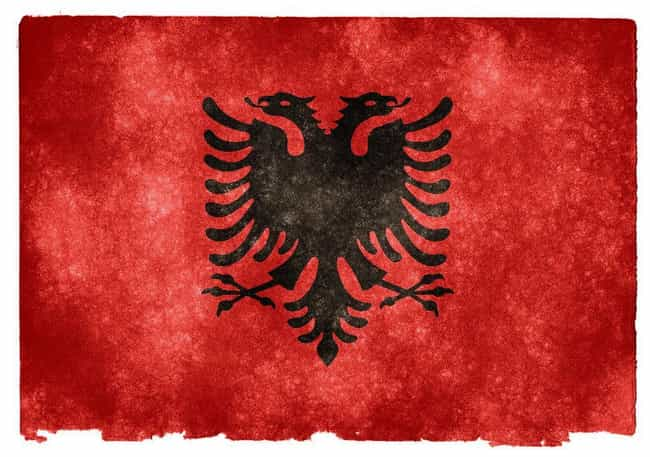 Albania is listed (or ranked) 3 on the list The Coolest National Flags