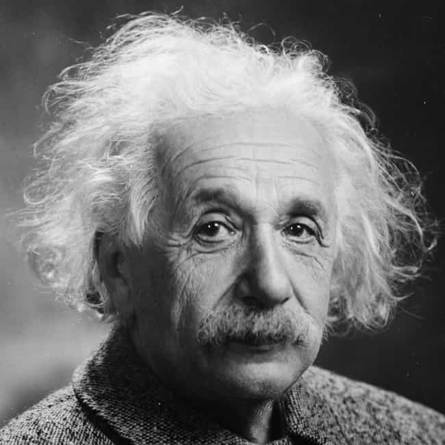 Albert Einstein is listed (or ranked) 4 on the list Famous Male Professors