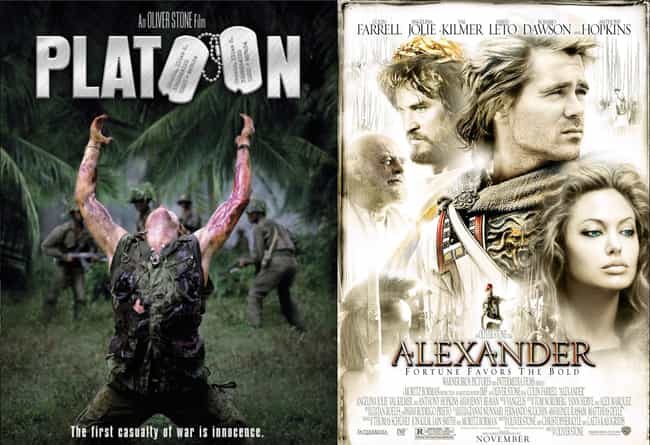 Alexander is listed (or ranked) 3 on the list 21 Surprisingly Bad Movies Directed by Good Directors