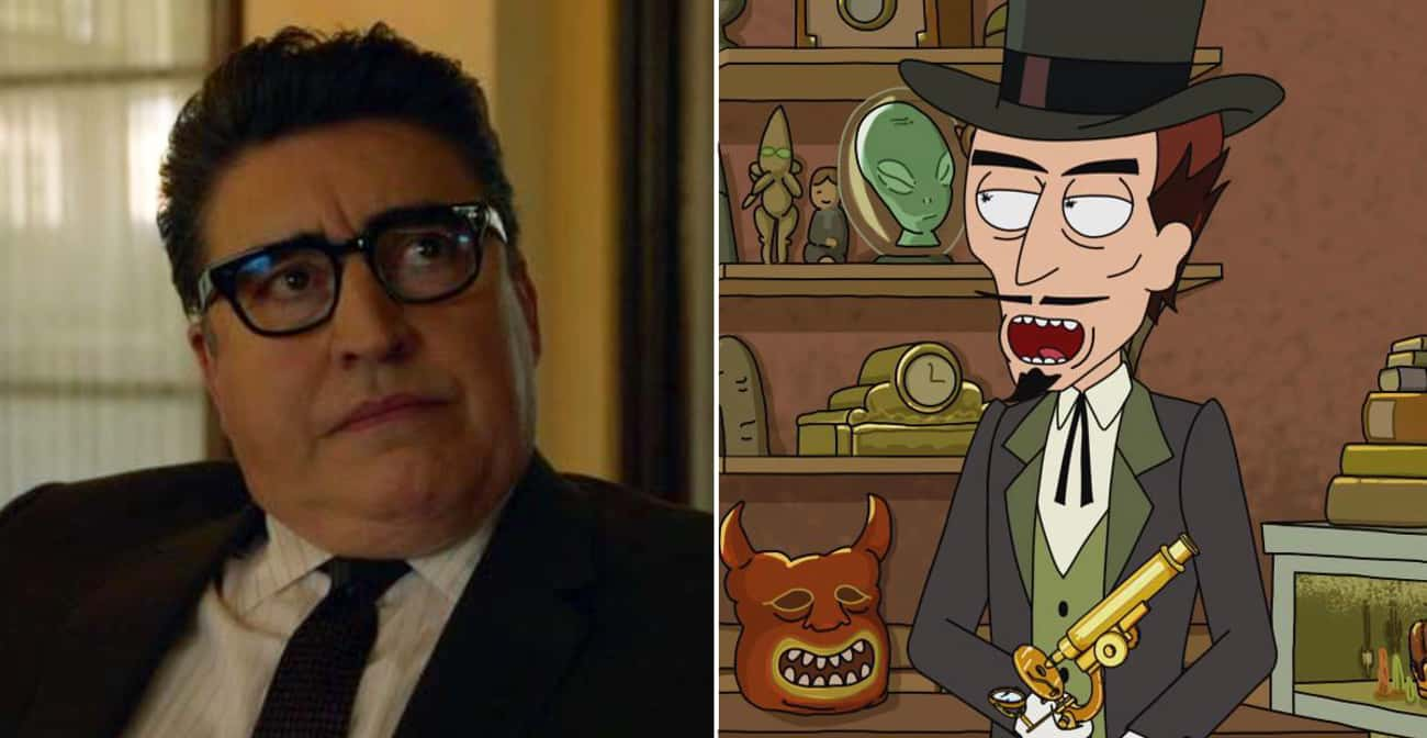 Alfred Molina is listed (or ranked) 4 on the list The Most Surprising Celebrity Cameos On 'Rick And Morty'