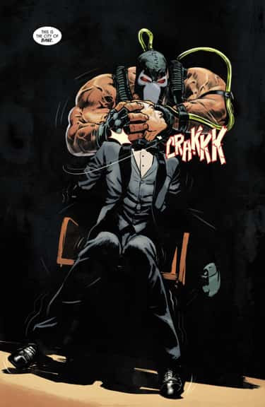 Alfred Pennyworth Gets His Neck Snapped By Bane
