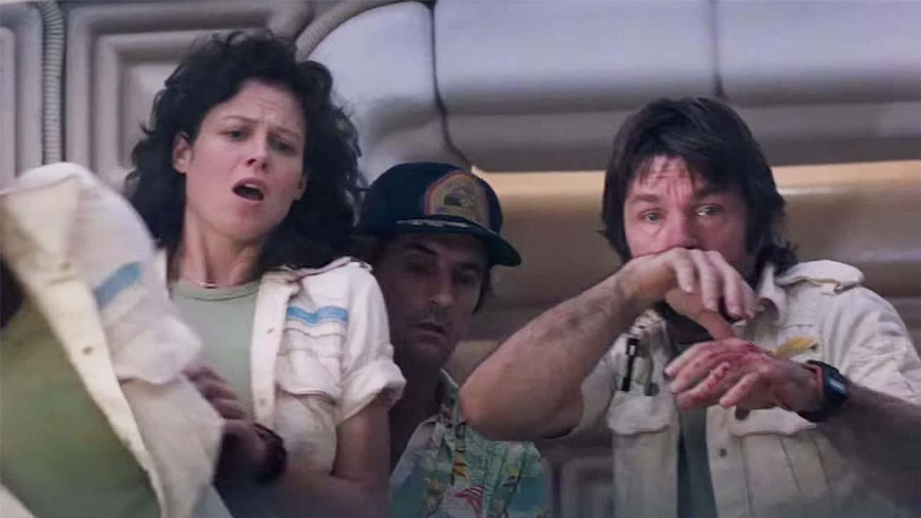 The 'Alien' Chestburster Scene is listed (or ranked) 1 on the list Movie Scenes That Genuinely Terrified The Actors