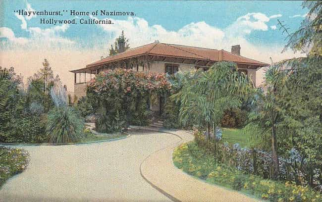 Alla Nazimova is listed (or ranked) 4 on the list The Most Unbelievable Old Hollywood Estates