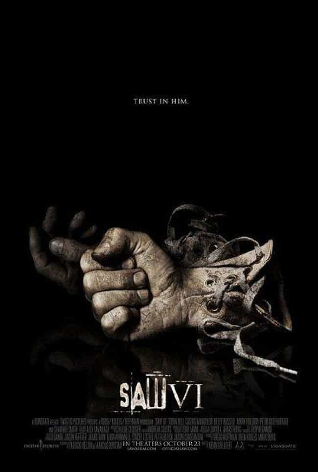 Saw VI is listed (or ranked) 2 on the list 16 Horror Movies That Lead to Real-Life Death