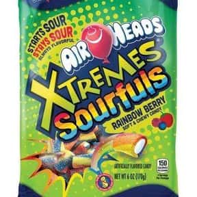 Airheads Xtremes Sour Candy is listed (or ranked) 9 on the list The Most Delicious Sour Candy