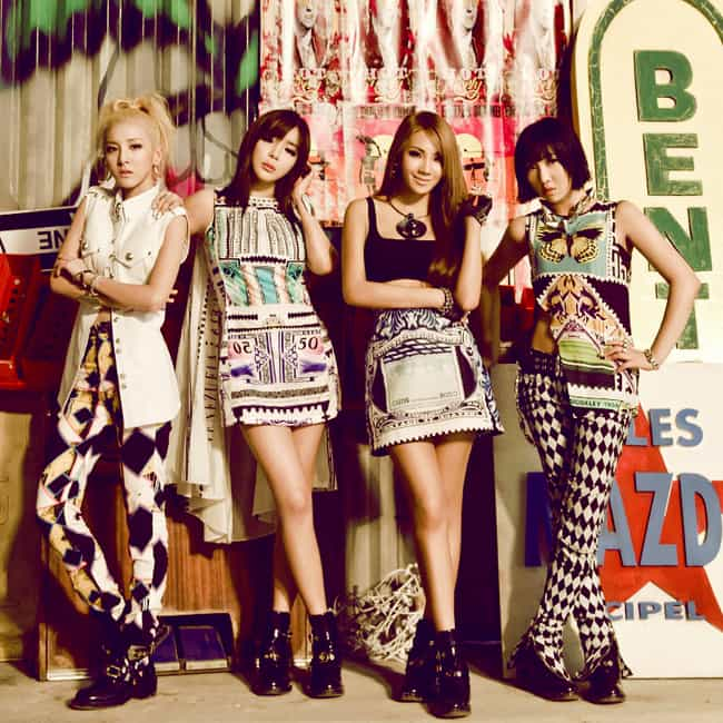 2NE1 is listed (or ranked) 3 on the list The Best YG Entertainment Groups Of All-Time