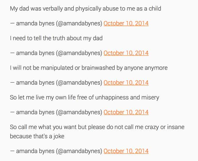 Amanda Bynes is listed (or ranked) 4 on the list The Most Outrageous Celebrity Tweets of 2014