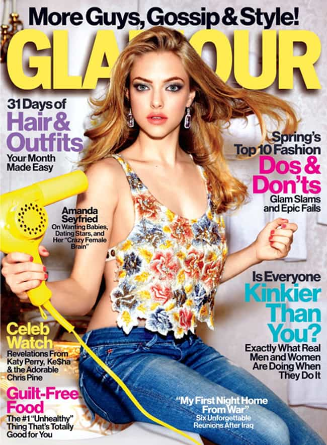 Amanda Seyfried is listed (or ranked) 4 on the list The Best Glamour Covers