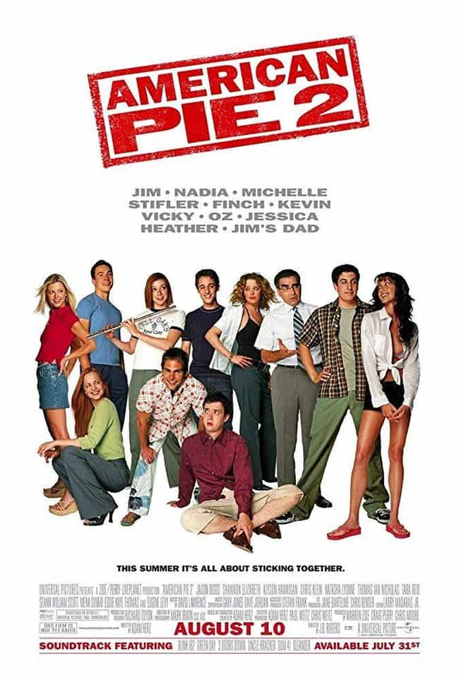 American Pie 2 is listed (or ranked) 1 on the list Every 'American Pie' Movie, Ranked by Hilarity