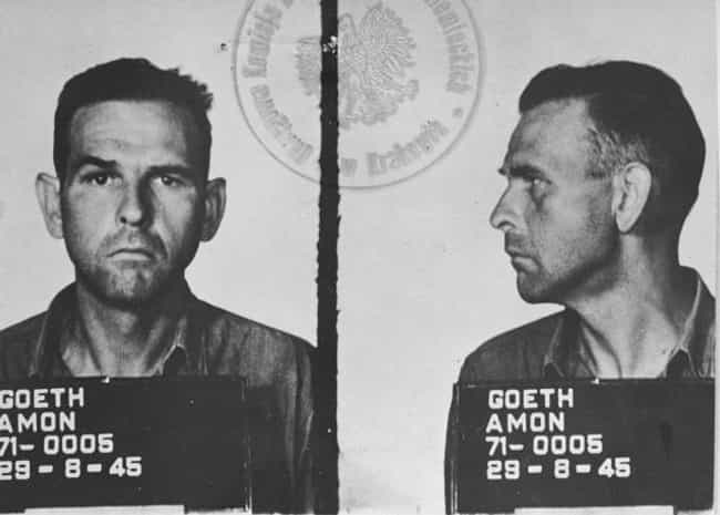 Amon Goeth is listed (or ranked) 1 on the list The 12 Most Brutal War Criminals Throughout History (And The Punishments They Got)
