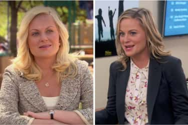 Amy Poehler (Leslie Knope) is listed (or ranked) 1 on the list How the Cast of Parks & Rec Aged from the First to Last Season