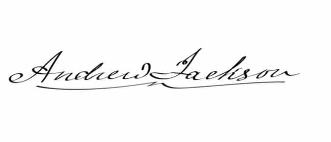 Andrew Jackson is listed (or ranked) 2 on the list Every US President's Handwriting