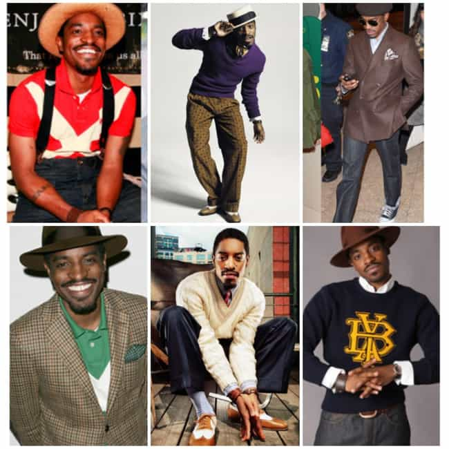 André 3000 is listed (or ranked) 4 on the list The Best Dressed Rappers