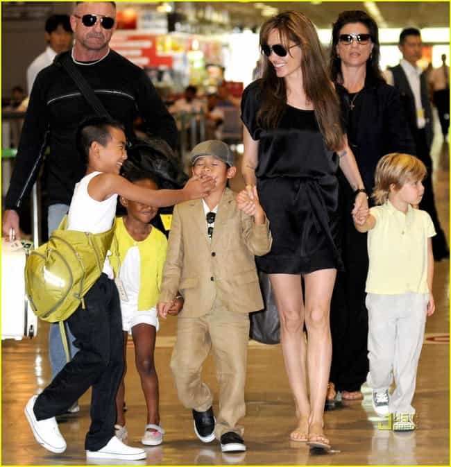 Angelina Jolie is listed (or ranked) 1 on the list 80+ Celebrities with at Least 4 Kids