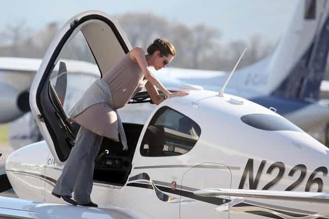 Angelina Jolie is listed (or ranked) 1 on the list Celebrities Who Fly Planes in Real Life