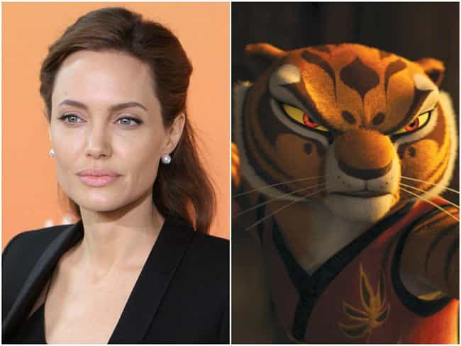 Angelina Jolie is listed (or ranked) 1 on the list 20 Famous People Who Voiced Cartoon Characters